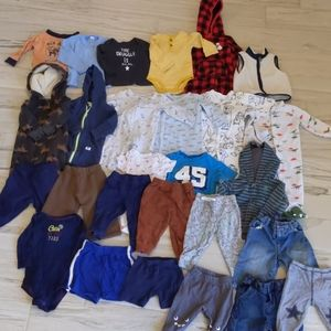 Lot of 27 prices of baby boy clothing size 9 mo